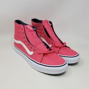 Vans Sk8-Hi Slim Camellia Rose Sneakers Men's Sz 8